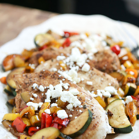 Balsamic Chicken with Sweet Peppers and Zucchini