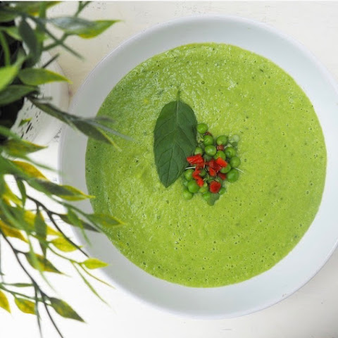 Pea, Mint & Avocado Soup