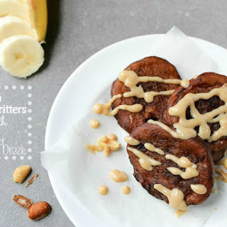 Banana Fritters with Peanut Butter Drizzle