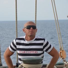 Sergei, Crew Chief aboard the Star Clipper by Bill Frank - People Portraits of Men ( sailing, tall ships, boats, travel, travel photography )