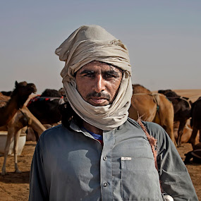 Herder by Scott Lorenzo - Professional People Agricultural Workers ( picture, person, farmer, camelherder, portrait )