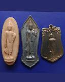 1.กล่องชุดพระ 25 พุทธศตวรรษ 3 องค์ ดิน-ชิน-เหรียญ พ.ศ. 2500