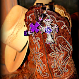 Cowboy Faith by Kleah Hasty- Mayahn - Artistic Objects Clothing & Accessories ( cowboy, cowboy hat, western captures photography, boots, country )