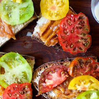Tomato and Fried Provolone Sandwich