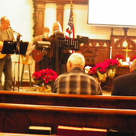 Gospel band at Xmas by Stephen Deckk - People Musicians & Entertainers