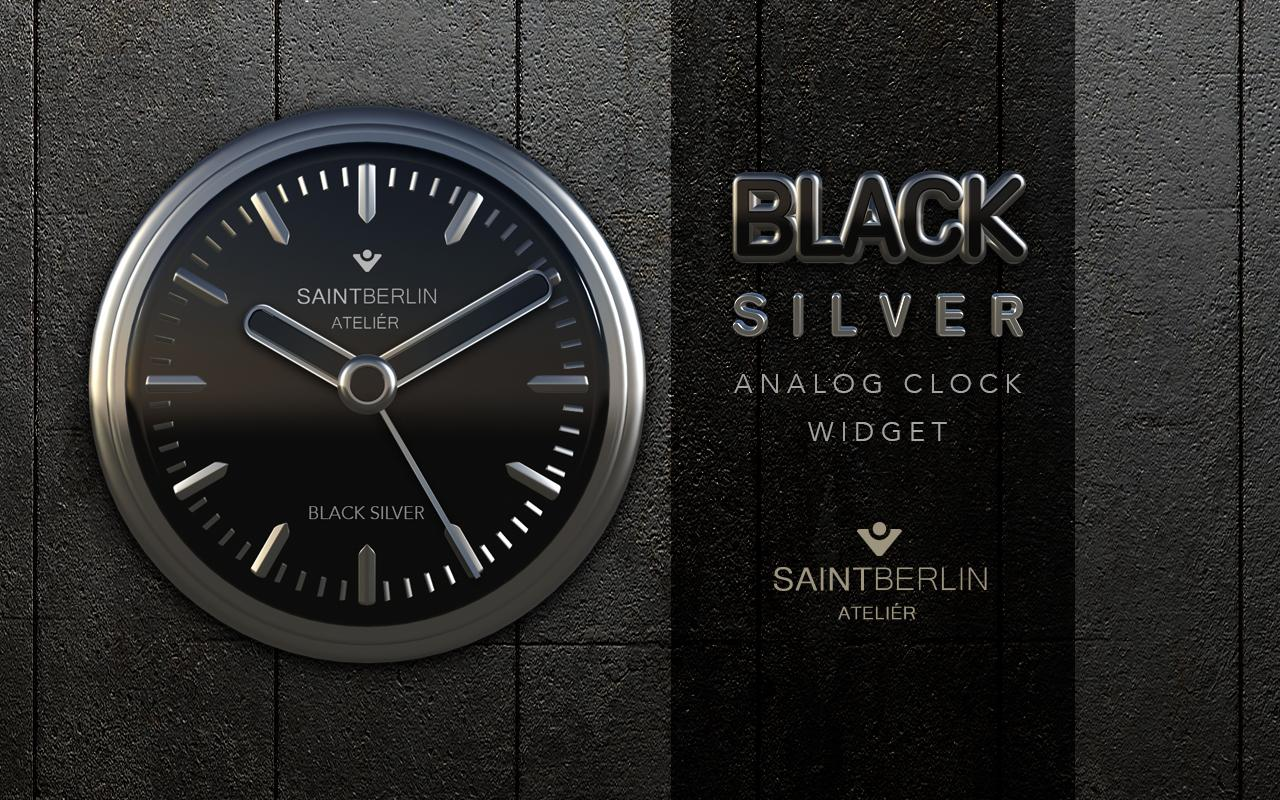 Black Silver Clock Widget Screenshot 4
