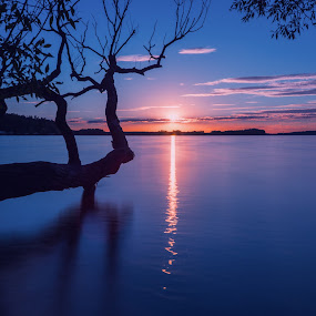 Bezdrev  by Robert Grim - Landscapes Waterscapes ( nikon, czech republic, waterscape, sunset, lakes, water, sun, czech )
