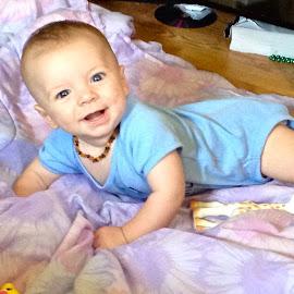 James by Mo Harmon - Babies & Children Babies ( baby boy blue blanket smile cute posing happy,  )