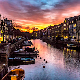 Christianhavn by Rajiv Bhardwaj - City,  Street & Park  Vistas