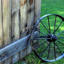 Old wheel by Janet Smothers - Artistic Objects Antiques
