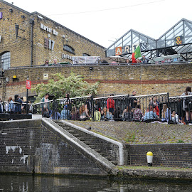 camden by Kathleen Devai - City,  Street & Park  Street Scenes ( water, market, london, buildings, people )