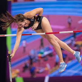Bronze medal clearance by Ron Russell - Sports & Fitness Running ( female, jumpling, pole vault, running )