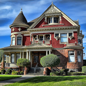 The Tuttle Mansion by Susan Foss - Buildings & Architecture Other Exteriors ( watsonville. victorian, tuttle mansion )