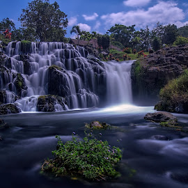 Blawan Waterfall by Agus Sudharnoko - Landscapes Waterscapes