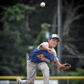 Little League Baseball  Pitcher  by James Betts - Sports & Fitness Baseball