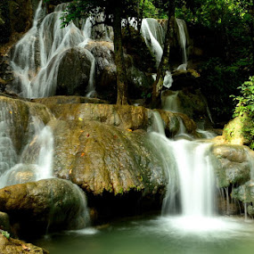 Matabuntu Waterfall by Hitler Tombaan - Landscapes Forests ( wasuponda, nature, indonesia, waterfall, heatlarx, landscape, mata buntu )