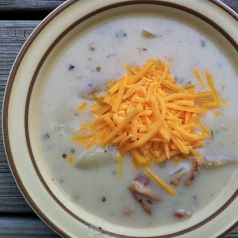 Slow Cooker Potato Soup-Traditional Lunch Version