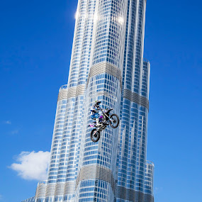 Moto-X  by O J - Sports & Fitness Other Sports ( dubai, uae, motorcross, exhibition, stunt, burj khalifa )