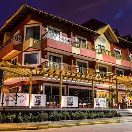 Pousada Ondas da Brava - Itajai SC by Rqserra Henrique - Buildings & Architecture Office Buildings & Hotels ( fineartphoto, longexposure, night, hotel, longexpo, building, rqserra )