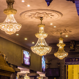 Chandeliers by Varok Saurfang - Buildings & Architecture Other Interior ( lights, temple, chandelier, hinduism, pillars )