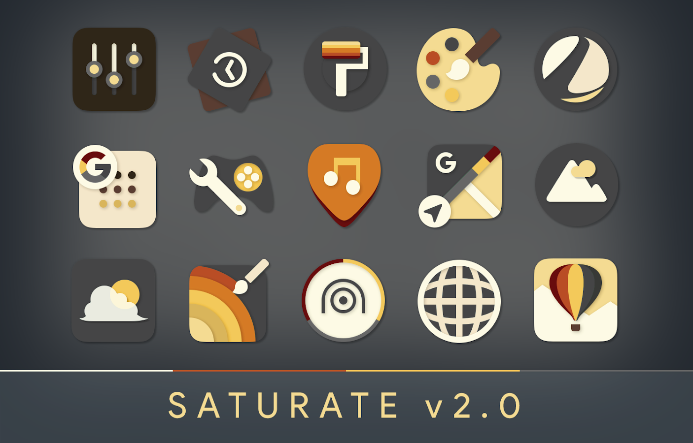 Saturate - Free Icon Pack Screenshot 0