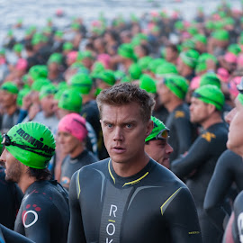Ironman by Brianne Toma - Sports & Fitness Swimming ( expression, face, america, fitness, male, northwest, candid, emotive, impact, portrait, iron, swimmer, idaho, coeur d'alene, emotional, swim, ironman, nikon, competitor, man, competition )