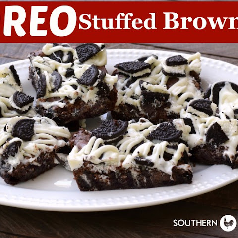 Oreo Stuffed Brownies