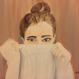 Peeking  by Melanie Levin - Painting All Painting