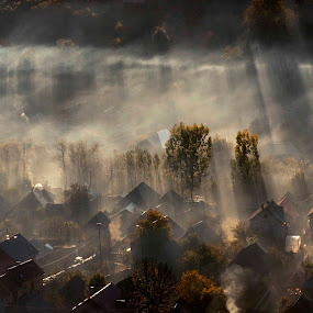 mist of morning by Cristina Gusatu - Landscapes Sunsets & Sunrises