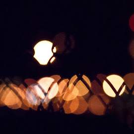 by Guy Henderson - Abstract Patterns ( lights, airport, wire, night, bokeh )