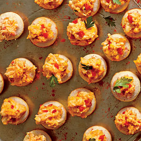 Cornmeal Tarts with Ricotta Pimiento Cheese
