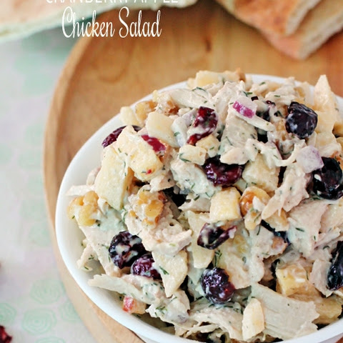 Cranberry, Apple & Walnut Chicken Salad