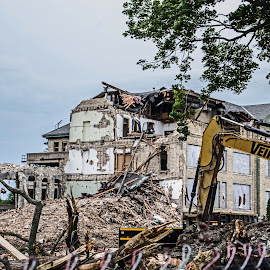 Deconstructing Our School by Sue Huhn - Buildings & Architecture Other Exteriors ( milwaukee, rubble, tear down, deconstruction, st. mary's academy )