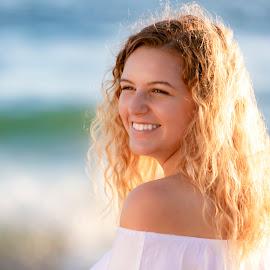 J by Mark Ritter - People Portraits of Women ( beautiful, laguna, beach, sunset, model, california, portrait )