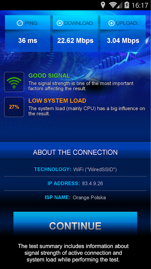 Internet Speed Test Screenshot 2