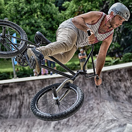 Dangerous Stunts ! by Marco Bertamé - Sports & Fitness Other Sports ( flying, skatepark péitruss, stunt, jump, luxembourg )
