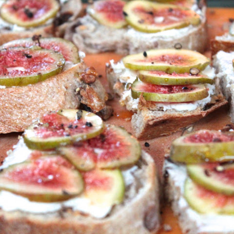 Fig & Honey Goat Cheese Crostini