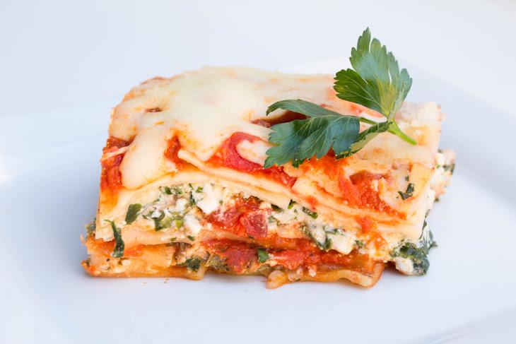 Spinach & Mushroom Veggie Lasagna Recipe | Yummly