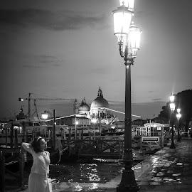 Venezia || Italia by Stan Petru - City,  Street & Park  Street Scenes ( city street scenes, venice, people street, italy )