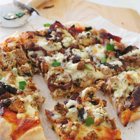 Turkey Burger Pizza