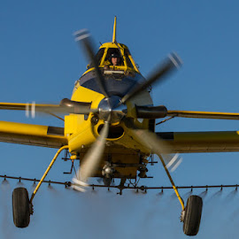 Coming at you by Jim Talbert - Transportation Airplanes ( flying, ag pilot, action, nebraska, crop duster, spray plane )