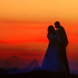 sunset by Dejan Nikolic Fotograf Krusevac - Wedding Bride & Groom ( vencanje, krusevac, sunset, wedding, lovely, svadba, fotograf )