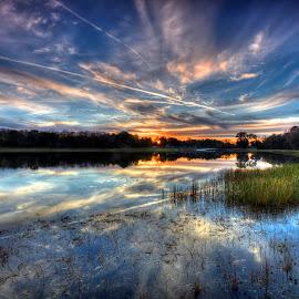 Cloud Painting  by Rick Mann - Landscapes Sunsets & Sunrises ( clouds, water, reflection, sky, nature, colors, sunrise )