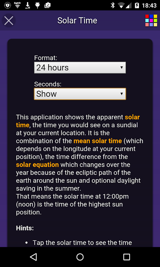 Solar Time Screenshot 2