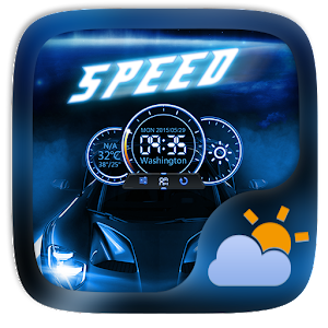 Speed GO Weather Widget Theme
