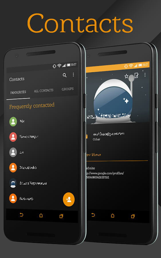 Sense Black/Orange cm13 theme Screenshot 16