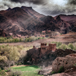 Ouarzazate Morocco by Larry Wheaton - Landscapes Mountains & Hills ( mountains, scenics, tourism, ruins, travel, morocco )