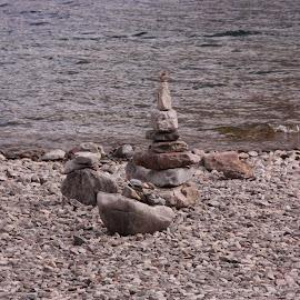 Rocky beach by Jeffrey  Thur - Landscapes Beaches ( alberta, waterton, summer, beach, rocks )