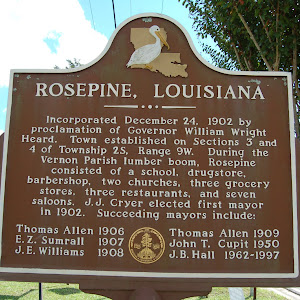 Incorporated December 24, 1902 by proclamation of Governor William Wright Heard. Town established on Sections 3 and 4 of Township 25, Range 9W. During the Vernon Parish lumber boom, Rosepine ...
