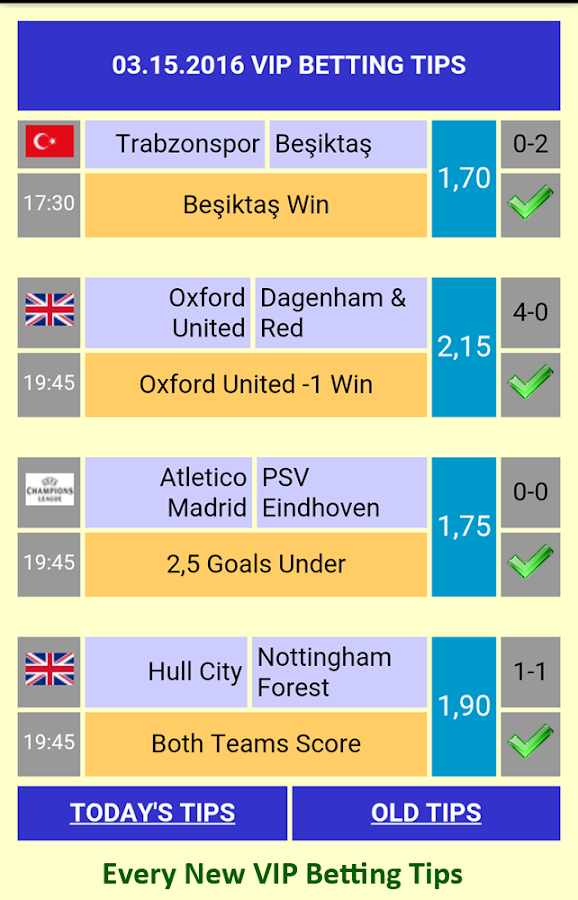 Vip Betting Tips Screenshot
